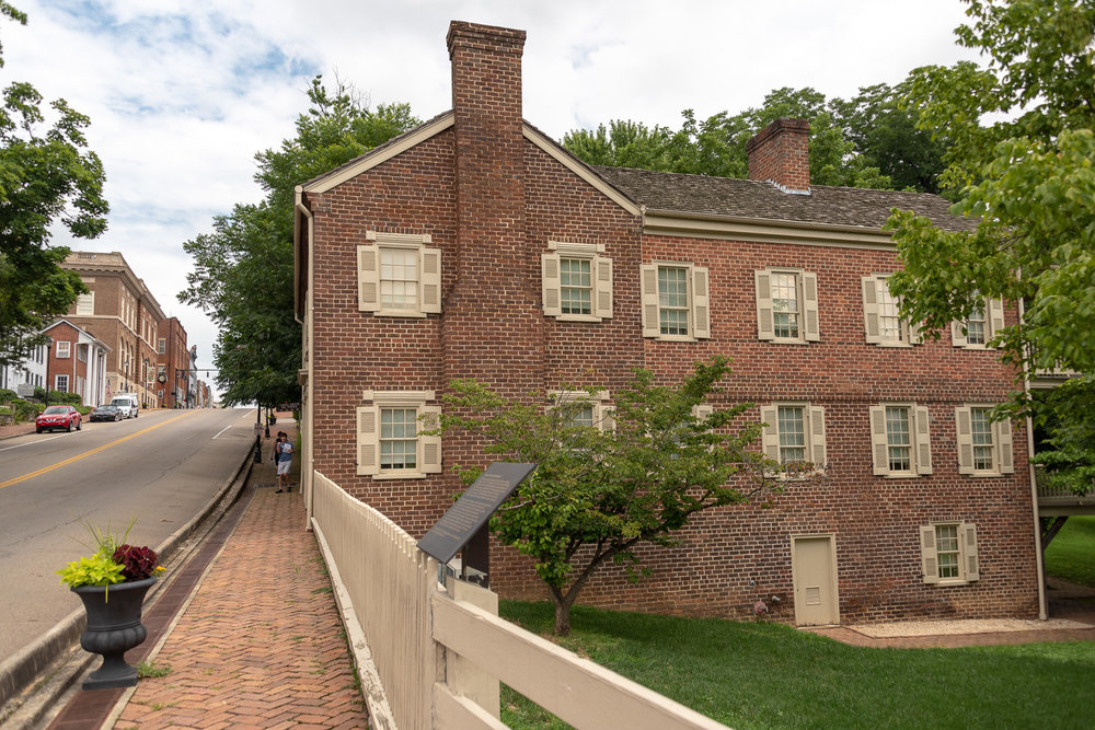 Side View of the Andrew Johnson Homestead.
