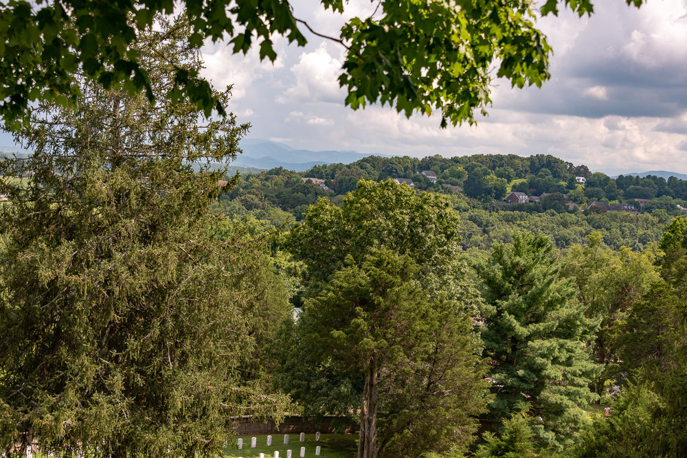 The impressive view one gets when gazing at the Blue Ridge Mountains.
