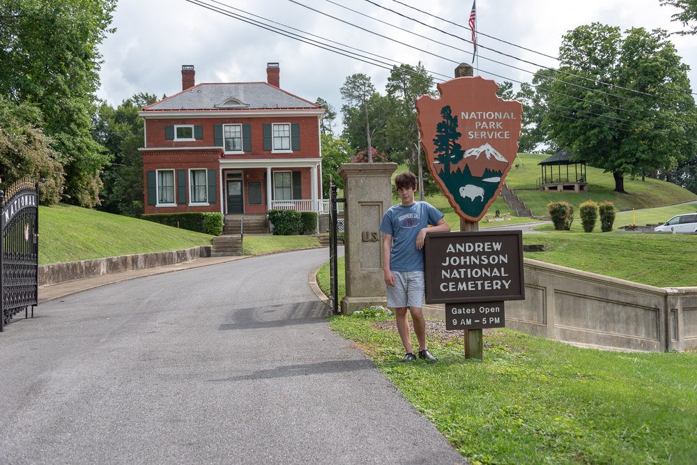 Gated Entrance to the Johnson Cemetery