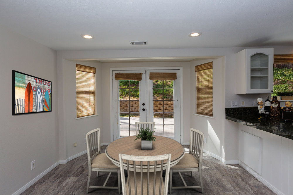 Virtually Staged Dining Area