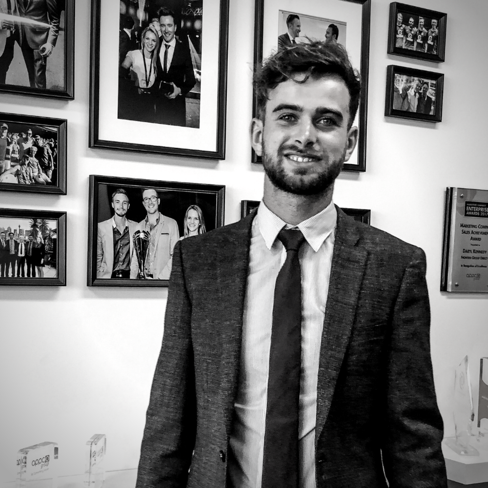 Originally from Galway in Ireland. Tommie completed his degree in biochemistry while working in Hospitality. Once his study was complete Tommie travelled over to Australia with his partner. Keen to give something new a try while living in Melbourne, Tommie began contracting to Frontier Group Direct in September 2018. Tommie's sporting background, hospitality skills and infectious personality helped him to learn the fundamentals of Direct Sales within a couple of weeks, and soon after he became one of the top sales contractors in Frontier. Despite not being completely sure if he was ready to lead and coach other contractors, Tommie dived right into a leadership role which involved mentoring and developing new contractors in the industry. This has proven to be a rewarding move as Tommie has built an organisation capable of generating over $400,000 in annual revenue. This has led to Tommie being recognised for his hard work and productivity with his advancement to Business Contractor.
