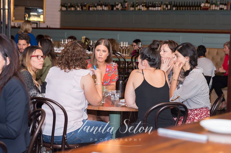 Looks like I'm having some *extremely serious* chats with the Inspired Women of Perth!  Photo credit: Tania Seton Photography