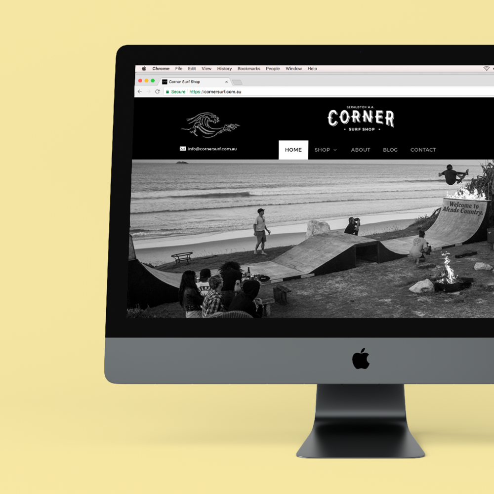 Corner Surf - Web Design