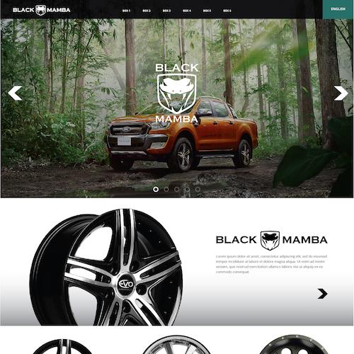 Black Mamba    Designet appellerer til et marked som liker store og røffe biler. Dette designet er veldig ulikt det mer moderne designet i våre andre prosjekter, men vår kunde overtalte oss om hva deres marked forventet.