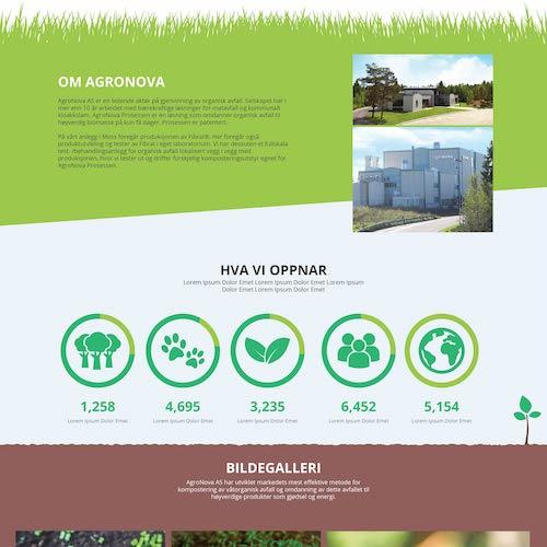 Nettside for resirkulering   Et stilrent design med hint av organiske teksturer. Denne nettsiden ble designet for et resirkulerings-firma som ønsket en moderne og grønn side.