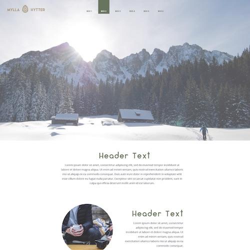 Fritidseiendommer i Norsk natur   Denne nettsiden har fokus på Norsk vinter-natur for markedsføring av eiendommer på fjellet. Designet er stilrent og lyst.