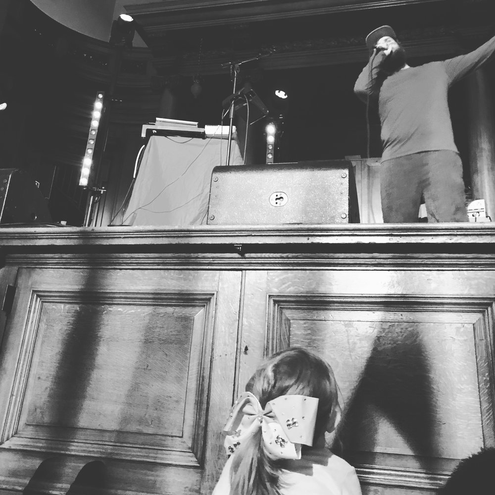 The Pictish Trail and young fan, Freemason's Hall, Major Minor Music Club