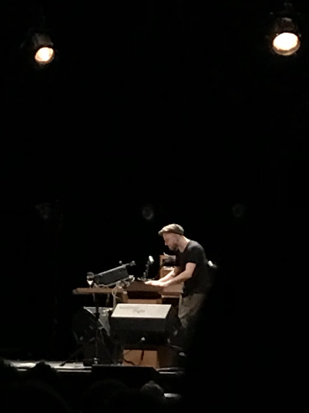 A not very good photo of a very good Nils Frahm