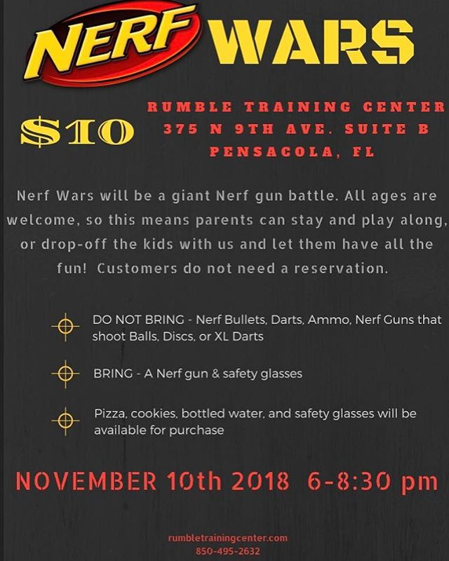 Come out and join us at our first ever Nerf Wars 😎