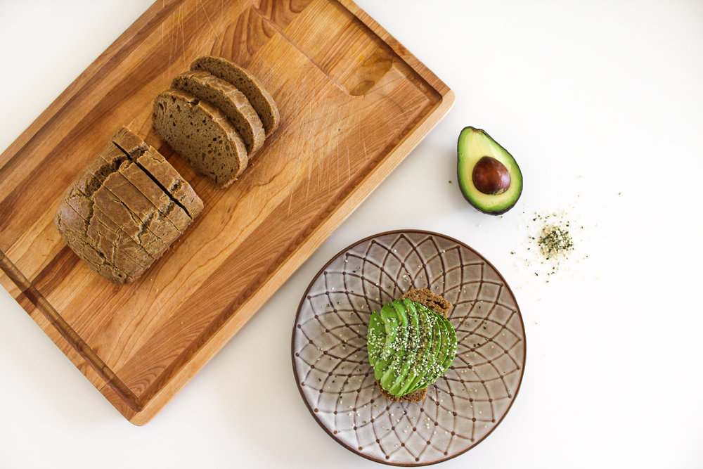 #2 - Sliced avocado & hemp seeds