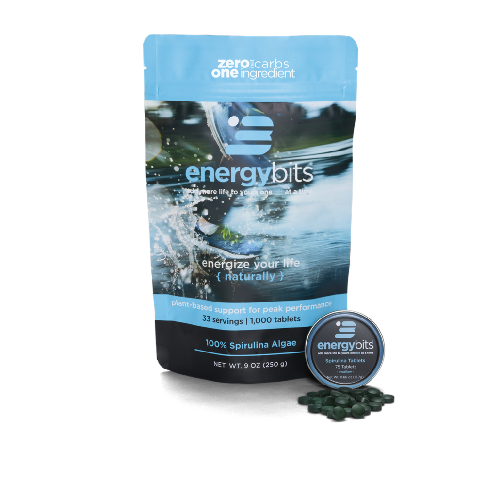ENERGYbits - NON GMO Spirulina Tablets   Discount code: KT (20% off)