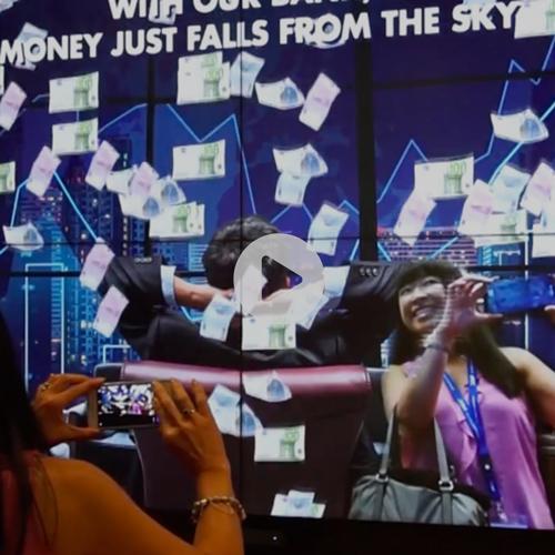 Interactive Cinema Lobby at NEC Showcase in London, 2018 -