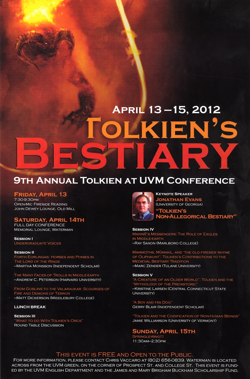 2012 Tolkien in Vermont conference poster