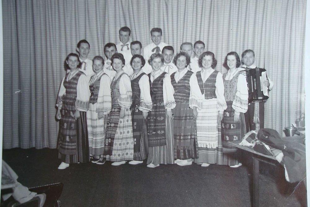Lithuanian Dance Group circa 1954
