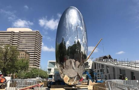 "Image from Buzz Magazine. Anish Kapoor ""Cloud Column"" in Houston Texas, 2018."