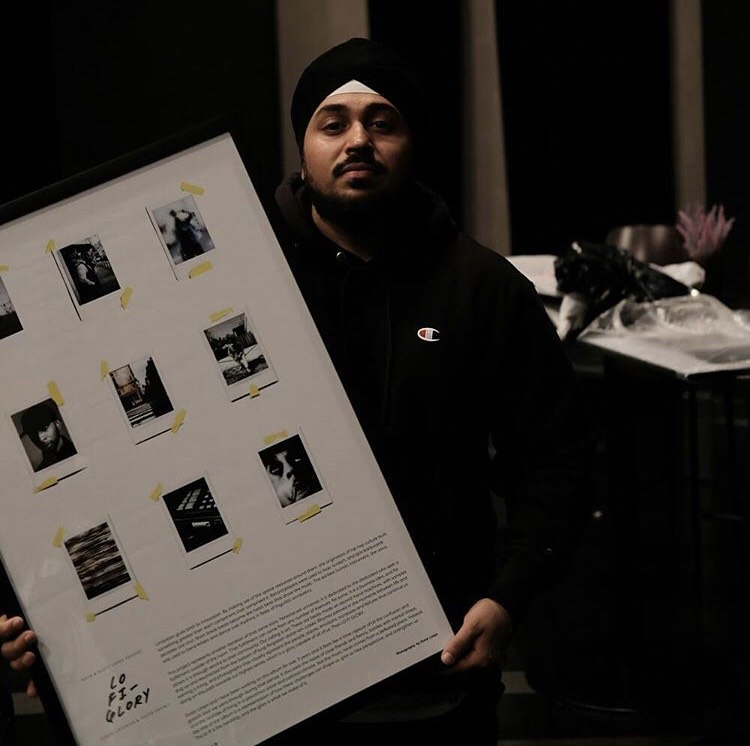 Producer/Photographer Dusty Loops at LOFI Glory photography/music exhibit (September 2017)