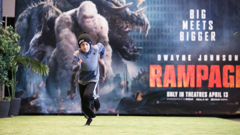 Special 'Rampage Run' dash activation at  CFL Week 2018 in Winnipeg, MB.