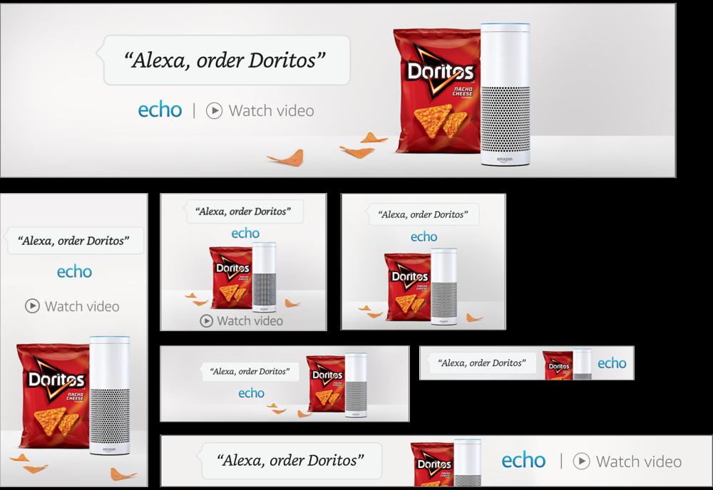 Media banners on Amazon Advertising Platform, Digital, Dimensions Veriable
