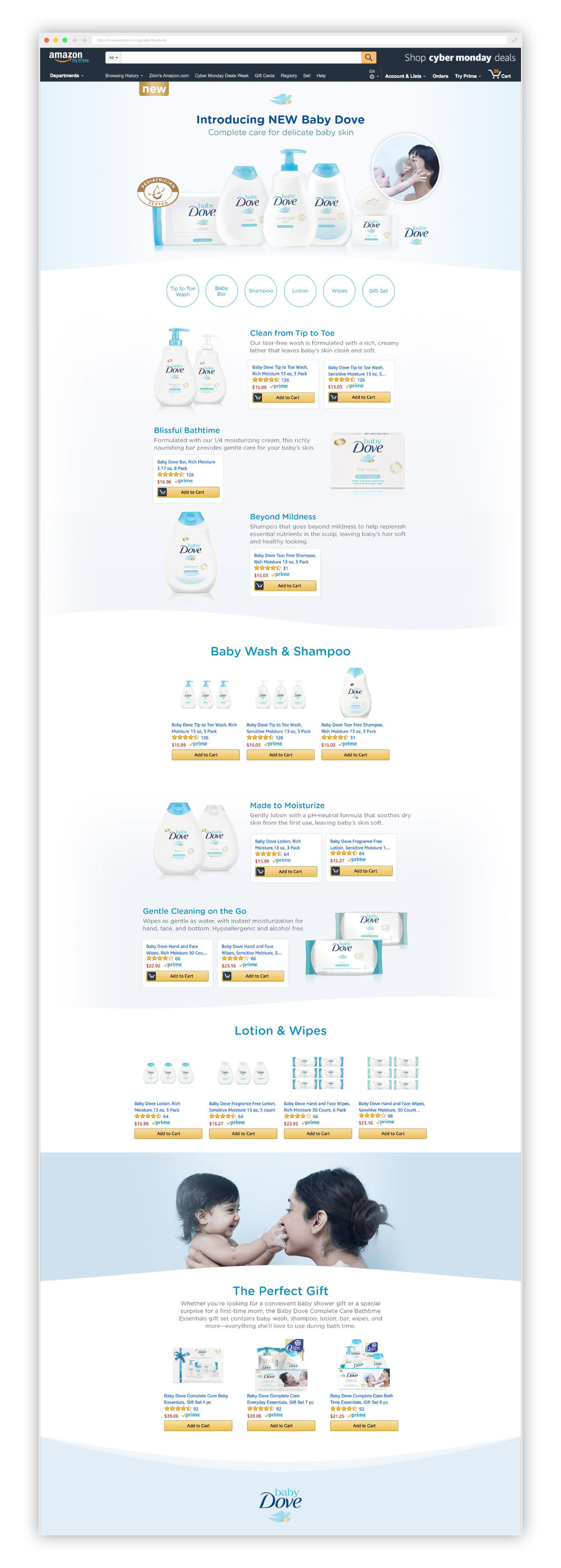 BabyDove Custom Campaign Landing Page, Digital, 3000px x8740 px