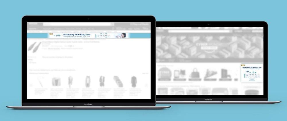 Desktop Crossscreen Media banners on Amazon Advertising Platform, Digital, Dimensions Veriable