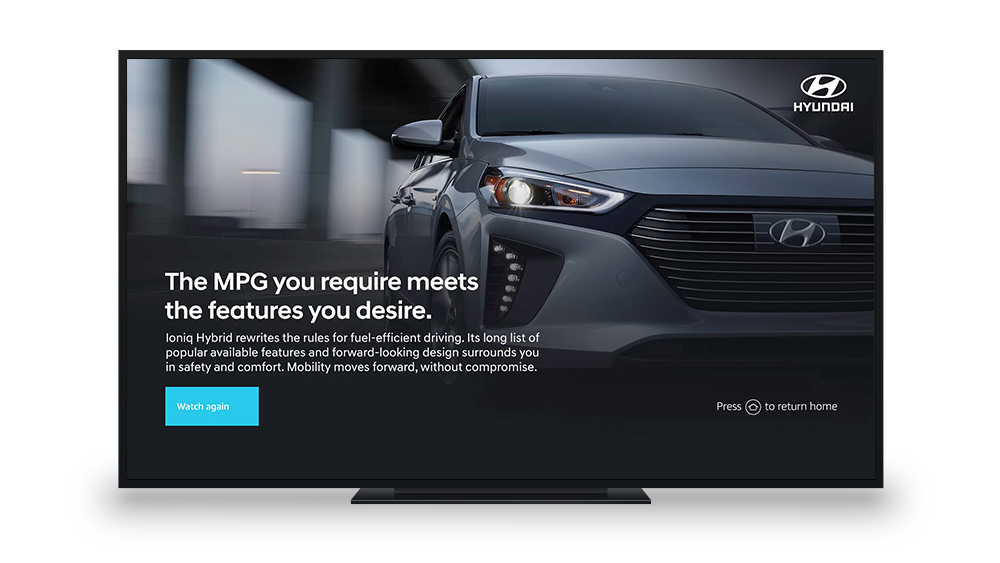 Hyundai Ioniq Hybrid Fire TV Campaign Landing Page