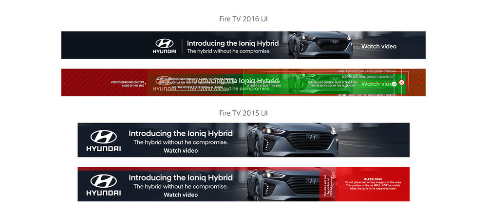 Hyundai Ioniq Hybrid Fire TV Home Screen banner
