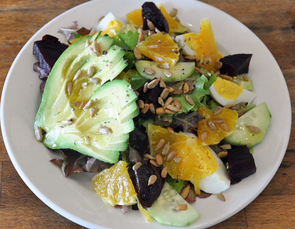 Avocado Orange Beets Salad with Hard Boiled Egg