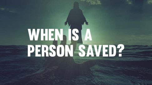 - God loved us so much that He sent His one and only son into the world so that when we believe, we are given eternal life (John 3:16). We are saved when we believe and receive the truth of the Gospel. You don't need to be able to remember the time or place of that decision to know you're saved.