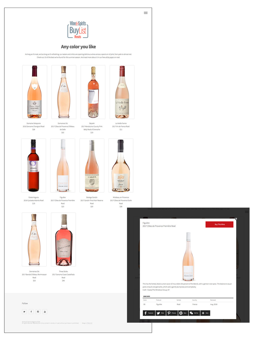 Wine & Spirits BuyList: Rose