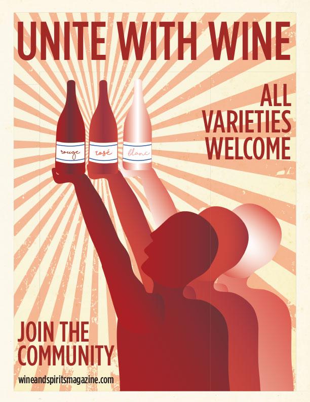 Wine & Spirits  magazine house ad. Done in Illustrator.