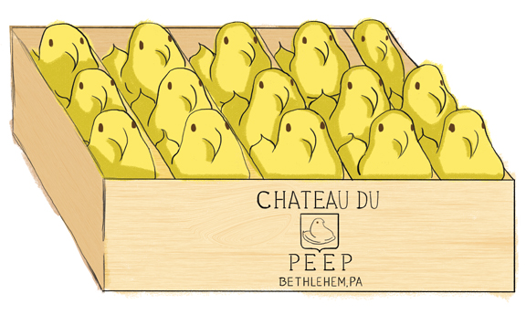 """""""Peeps in the Cellar"""" by Deanna Gonnella for  Wine & Spirits  October 2017."""