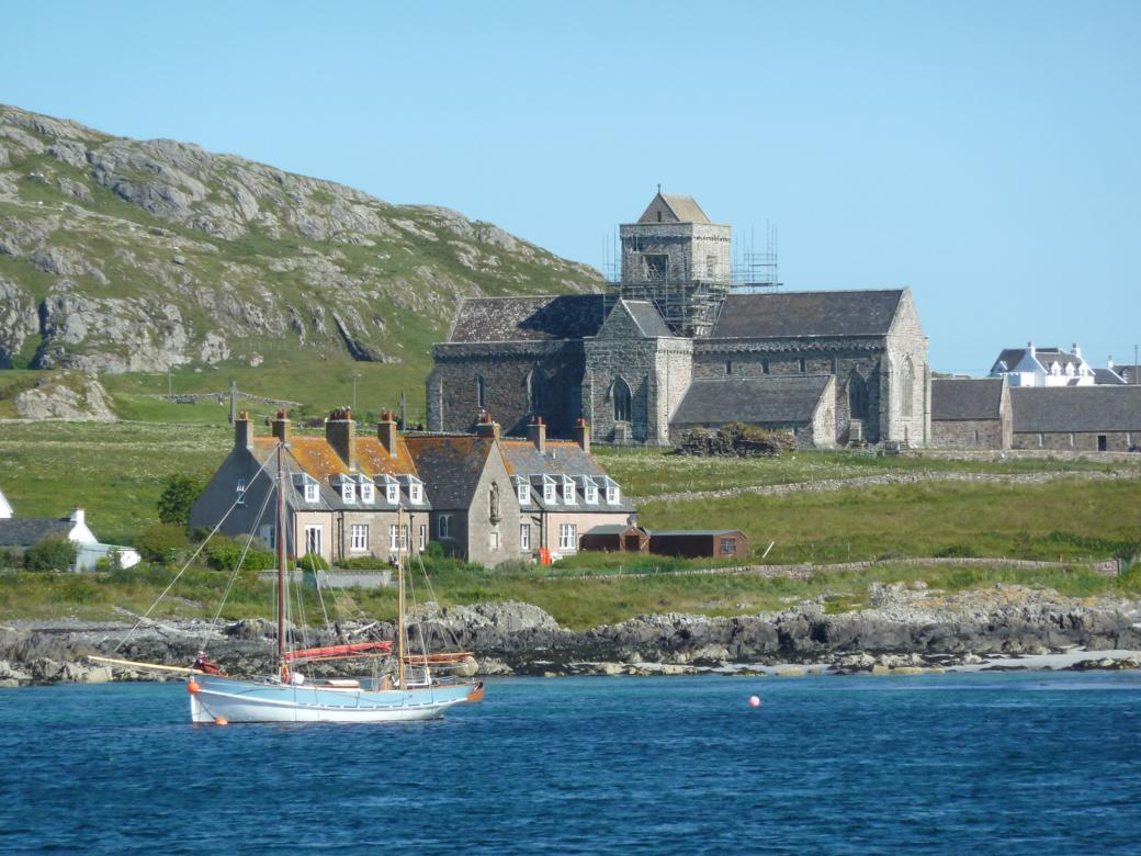 A view of the Iona Abbey from the bay