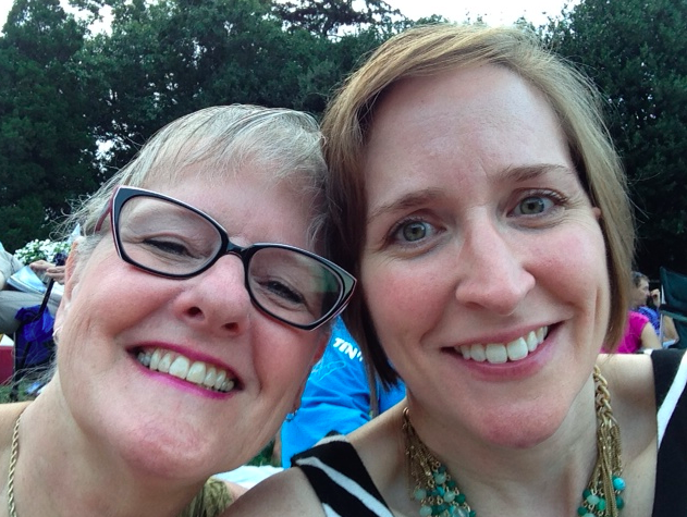 My sweet mother and I at Wolf Trap last Saturday night.