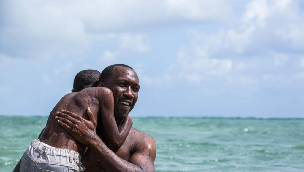 From the film Moonlight, which is the one I'm most excited to see, followed by Hidden Figures and Lion.
