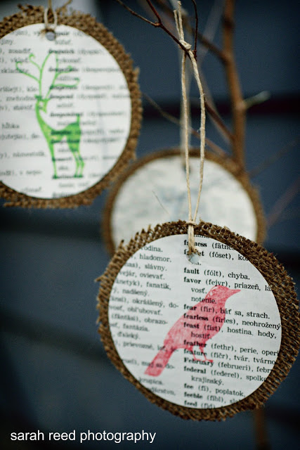 Upcycled Vintage Book Paper Holiday Ornament Tutorial