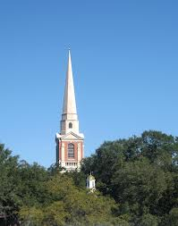 The steeple of First Presbyterian, Houston