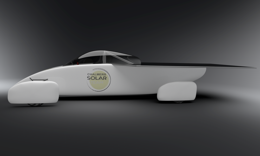 Rendered image of the car