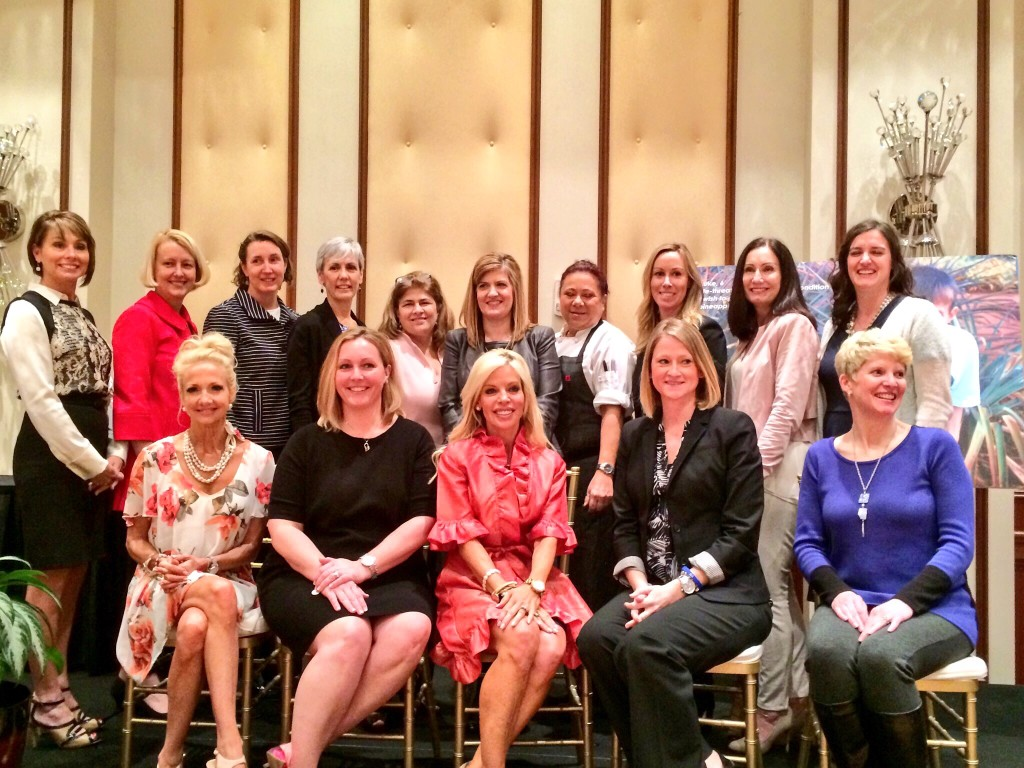 The W.I.S.H. honorees: Karen Bender (Syracuse), Mary Boelke (Indianapolis), Erin Butler (Fishers), Christine Dunn (Indianapolis), Kim Howell (Carmel), Holly Kirsh (Carmel), Sally Longoria (Mooresville), Marilin Martinez-Walker (Carmel), Michelle Matiya (Indianapolis) Tiffany McCorkle (McCordsville), Jessica Nickloy (Noblesville), Kay Pashos (Carmel), Mel Raines (Indianapolis), Elizabeth Sheets (Fishers), Anne White (Carmel) and Heather Wilson (Indianapolis).