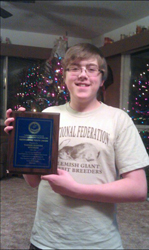 TANNER REDDING AND HIS OUTSTANDING YOUTH AWARD 2011