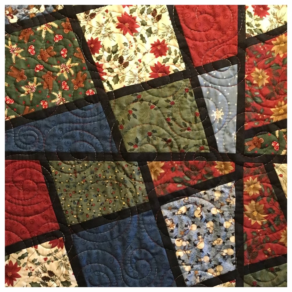 FINISHED QUILTS - LOVINGLY MADE BY MOM & ME QUILTING CO., EACH OF OUR QUILTS IS ONE OF A KIND, CONSTRUCTED WITH QUALITY TO LAST FOR YEARS WHEN WELL-CARED FOR. BROWSE OUR INVENTORY OF QUILTS.