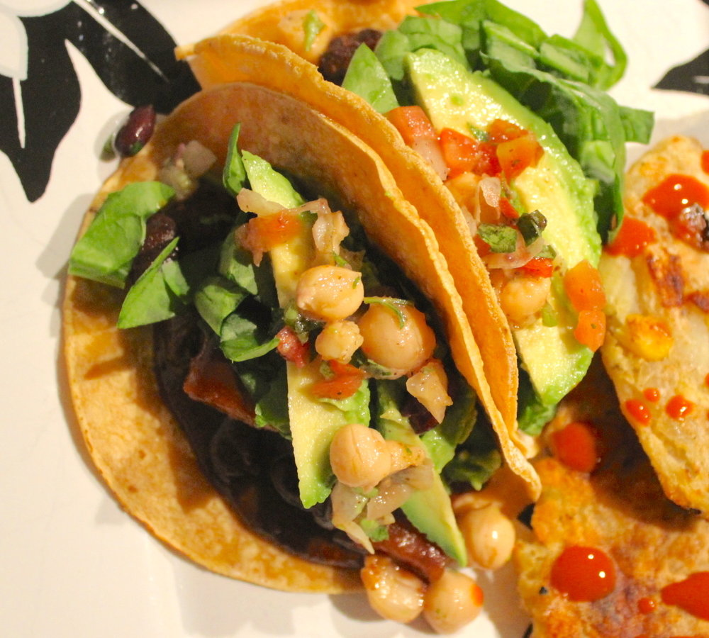 Sweet Potato Mole Tacos w: Chickpeas.JPG