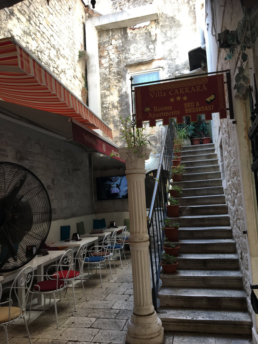 This is common dining in Trogir and most towns