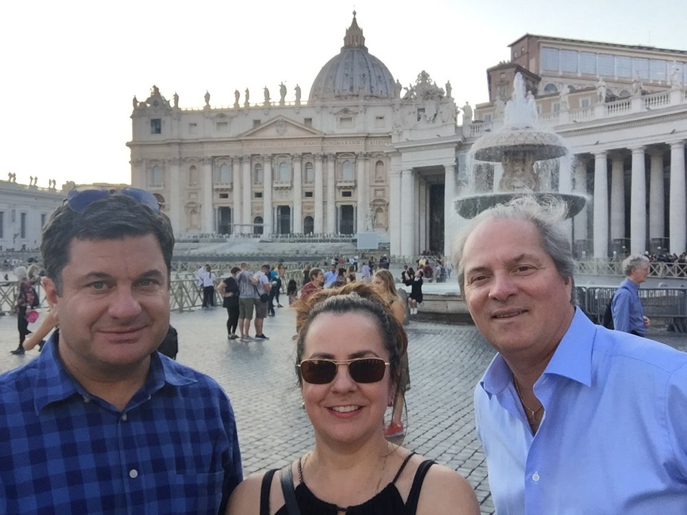 At the Vatican - that you can clearly see.