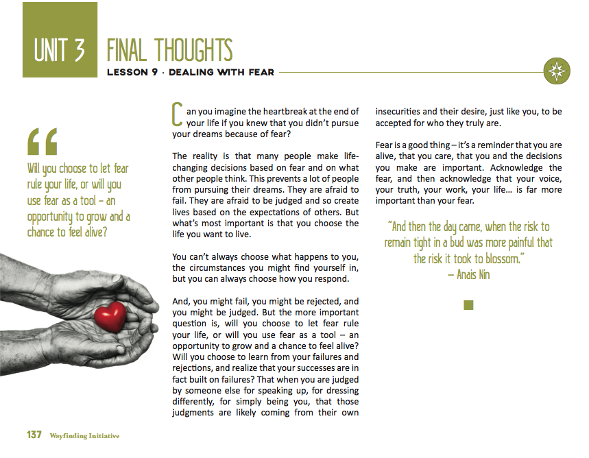 5. Final Thoughts - At the end of each lesson, there are final thoughts that re-visit some of the more important ideas of each lesson.