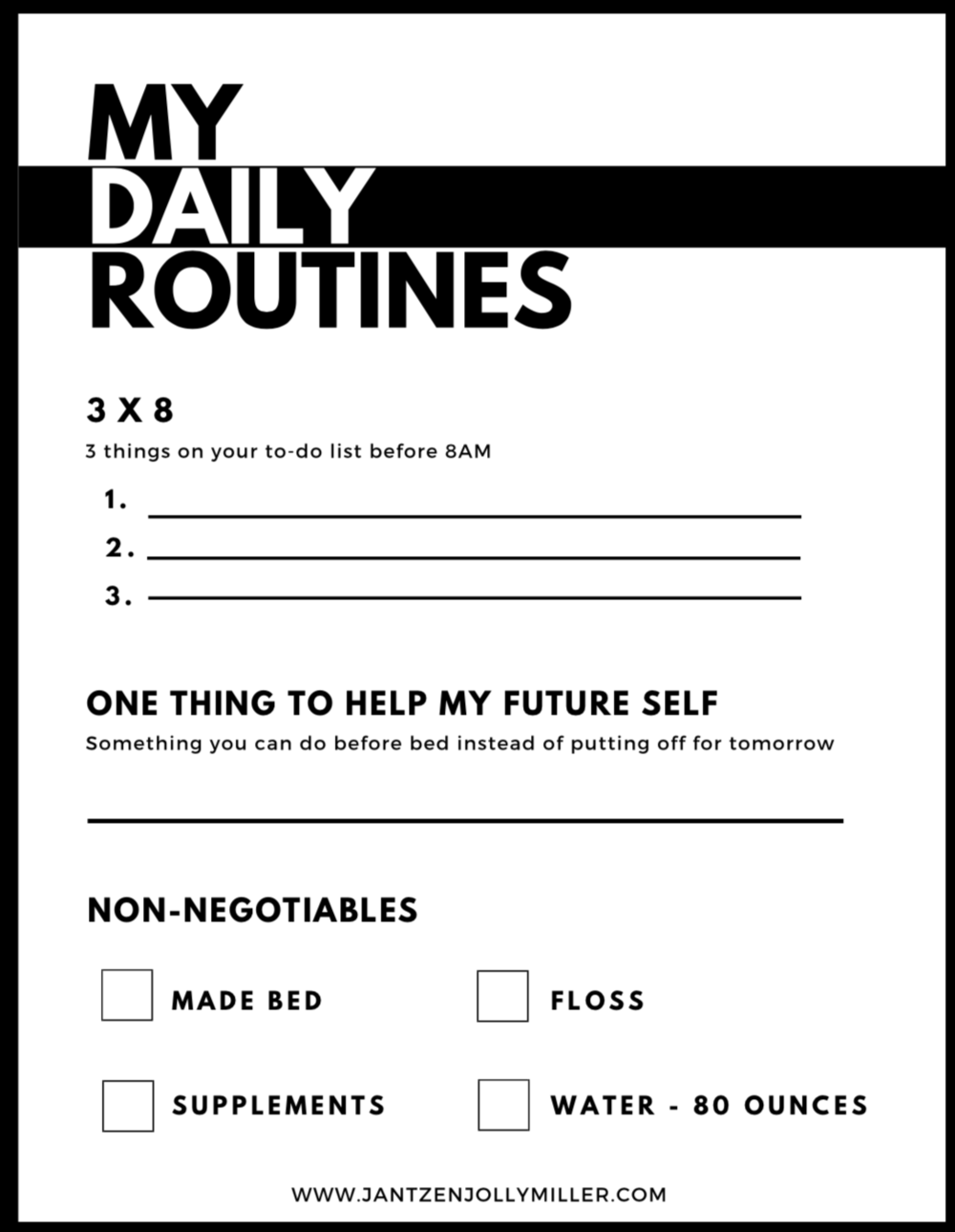 Download Your FREE Daily Routines Tracker - GET YOURS NOW