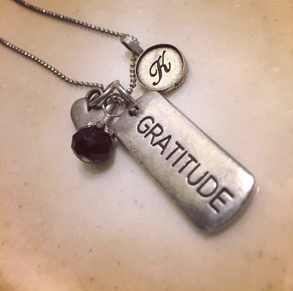 A necklace my mom gave to me after writing this post in 2012.