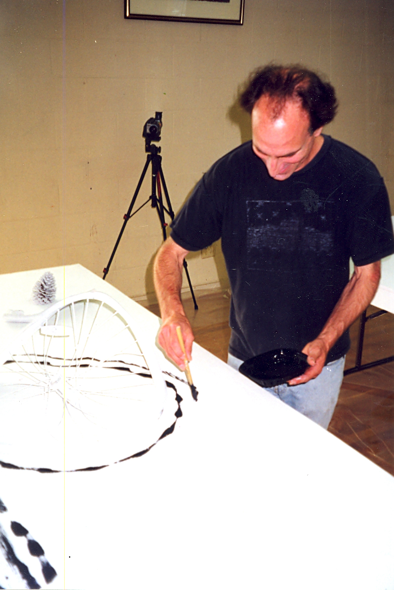 Michael Hofmann works on a component of Souls on Garbage
