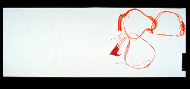 John Cage, New River Watercolors, Series II, #1, 1988, watercolor, 72 x 26 in. (182.88 x 66.04 cm)