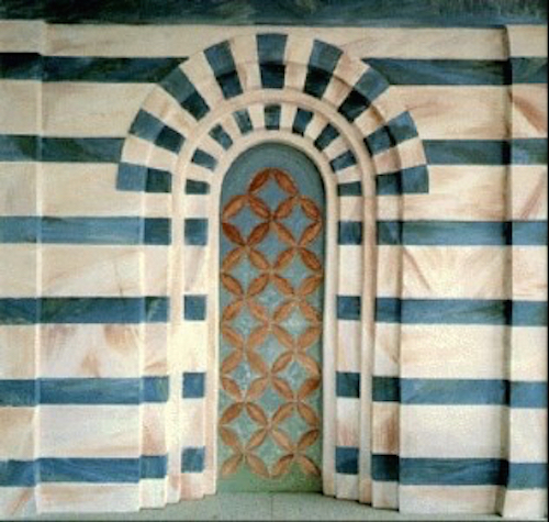 Fiesole, Fresco on Panel, 1986