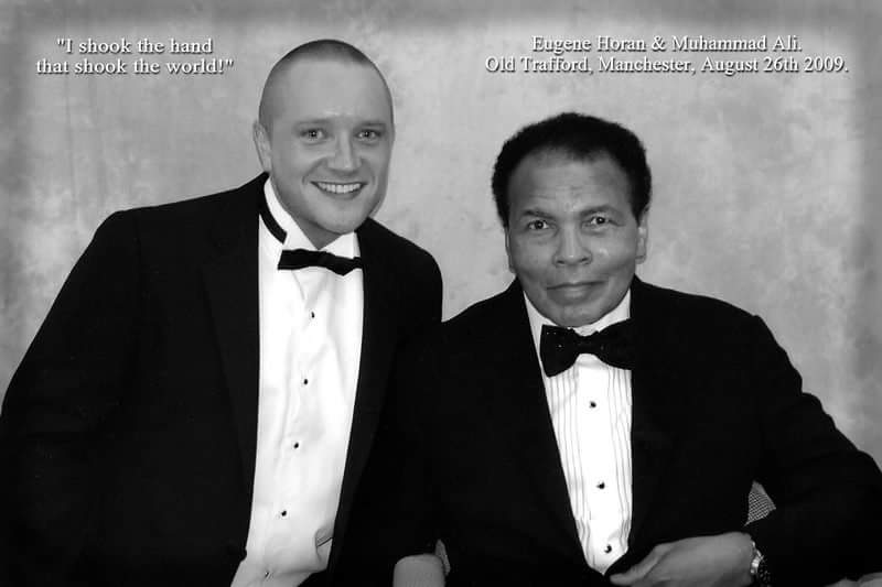 'THE GREATEST OF ALL TIME' - I shook the hand that shook the world! Meeting Muhammad Ali was one of the most incredible experiences of my life. For full story, visit: https://www.eugenehoran.com/new-blog/